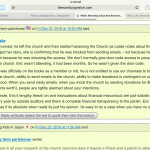 Grace Episcopal Discloses Confidential Giving