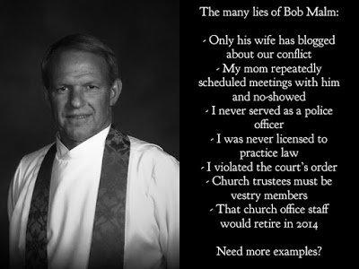Perjuring priest Bob Malm