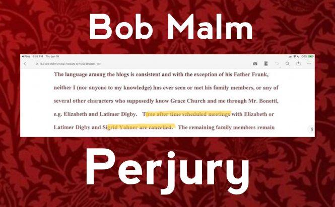 Bob Malm perjury