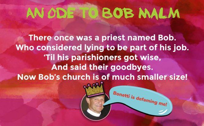Bob Malm, perjuring priest